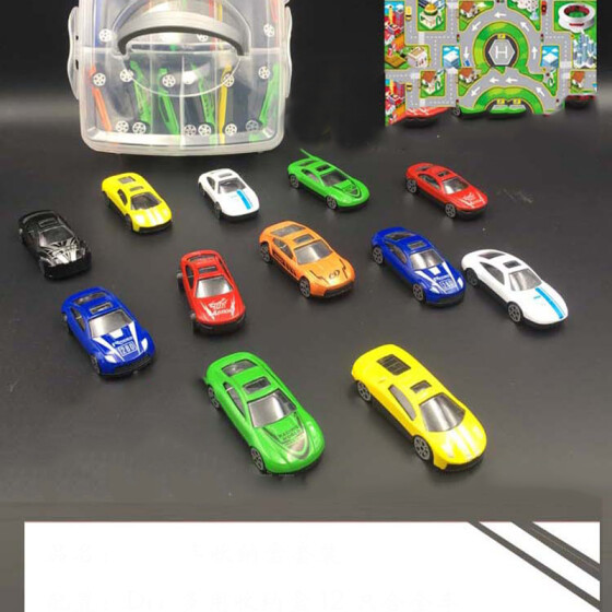 Pull Cord Vehicle Mini Racing Toy Car for Kids Children Baby Educational Toys Q