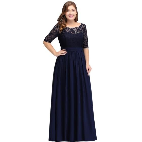 1b33fa2eb59 Длинные вечерние кружевные платья A-line шифон вечерние платья формальные  партии кружева платья матери платье