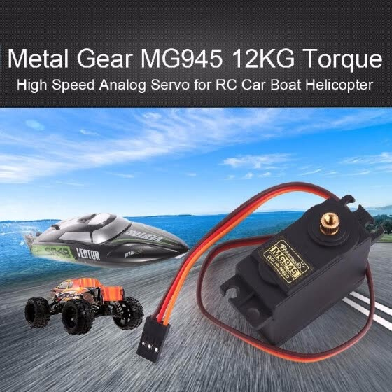 LiNKFOR MG945 High Speed Metal Gear Servo 12kg Torque High Torque and Power for RC Plane Racing Car Airplane