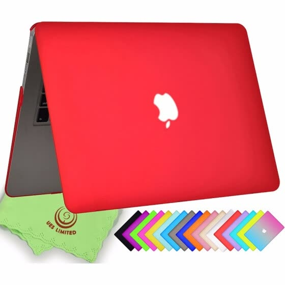 "UESWILL Smooth Soft-Touch Matte Frosted Hard Shell Case Cover for MacBook Air 11"" (Model: A1370/A1465)-Red"