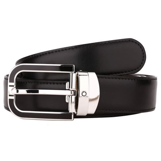 MontBlanc Montblanc Men's Classic Series Black/Brown Double-Sided Belt/Belt 109740