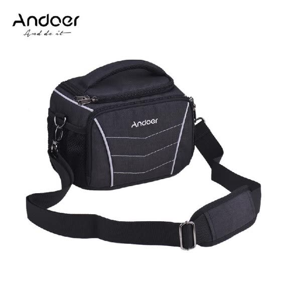 Andoer Professional 600D Fabric Material Camera Backpack Bag para 2 cámaras DSLR SLR 6 lentes Trípode Flash y accesorios (opcional