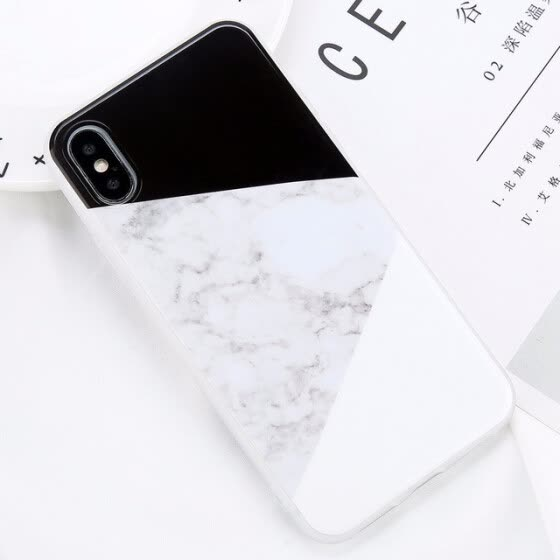 Glossy Marble Case For iPhone 5 6 7 8 PLUS X Stone Image Pattern Cases Silicon Back Cover