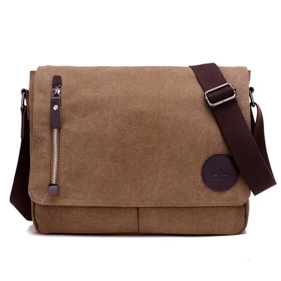 Mens New Casual Fashion Canvas Messenger Bags Shoulder Bag Crossbody Daypack Book Bag Satchel School Bag