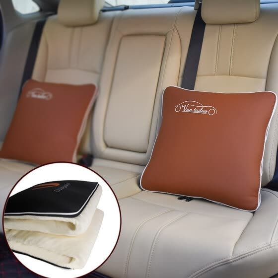 Vatican car pillow car pillow is car pillow quilt dual-use car on the car with car summer cool is multi-function