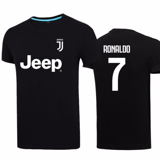 cheap for discount a01ca c2d75 Shop 2018 C Ronaldo Jerseys T Shirt Footballs Juventus Logo ...