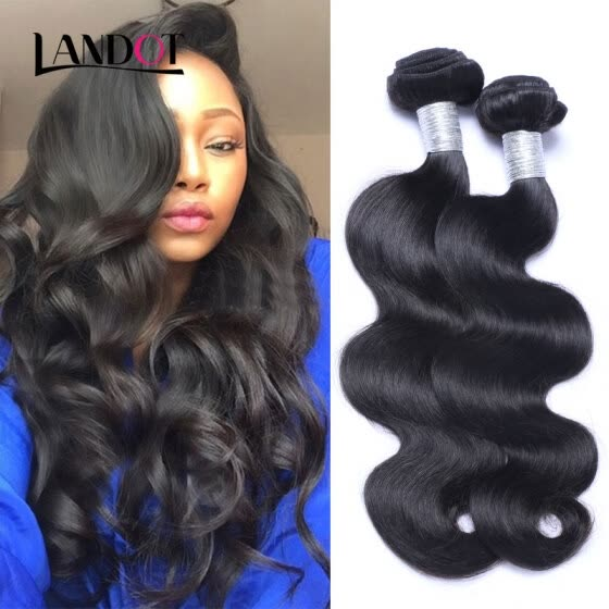 8A Cambodian Virgin Hair Body Wave Natural Black Color 100% Human Hair Weaving 4 Bundles Lot Cheap Cambodian Remy Hair Extensions
