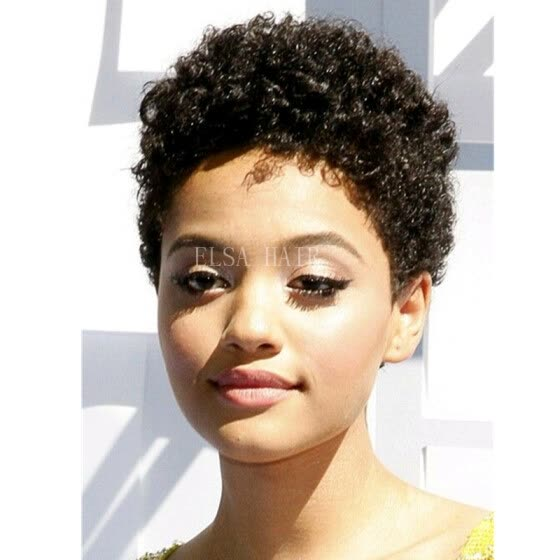 Cheap Lace Front Wigs afro kinky curly Human Hair Wigs brazilian Best Hair none full lace very short Hair wigs for Black Women