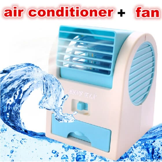Mini USB fan air conditioner No Leaves  Air Conditioning rechargeable batteries Bladeless Cooler