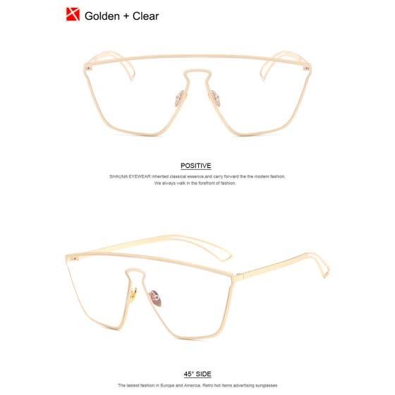bb54e52d94f9 SHAUNA Cool Integrated Lens Women Mirror Pink Reflective Sunglasses Fashion  Men Black Goggle Lens Sun Glasses