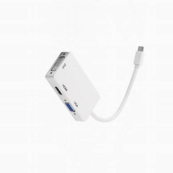 Huayuan 3 в 1 мини - displayport Thunderbolt для HDMI / DVI / VGA display port кабель адаптер