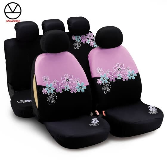 Car Seat Covers For Women Universal Fit Most Cars And Airbag Compatible  Pink Color With Flower bc7ecfeee
