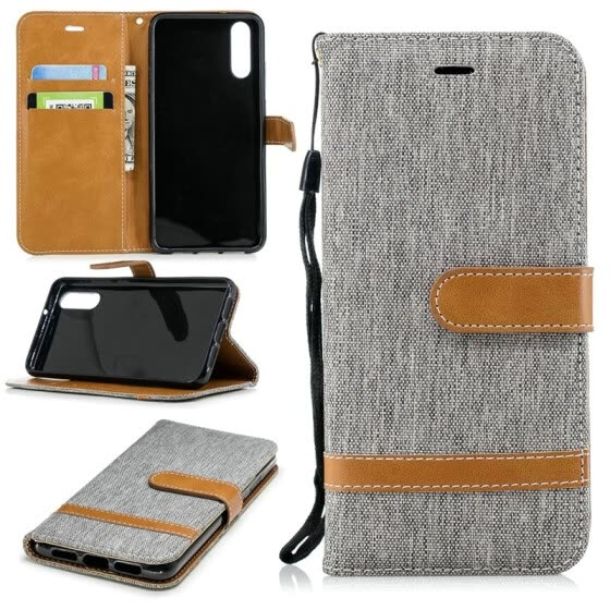 "BEFOSPEY Mixed Colors Denim PU Leather+Soft TPU Card Slot Stand Wallet Case For Huawei P20(5.8"")"