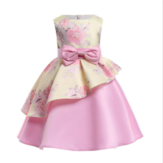 Toddler Girls Kids Baby Party Wedding Summer Sleeveless Princess Cotton Dresses