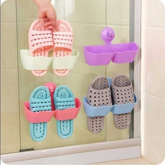 Shop Wall Mounted Shoes Storage Holders Sticky Hanging Shoe