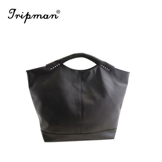 Tripman women bag High Quality Women handbag patent leather handbags Rivet package large tote Famous brand designer shoulder handbags