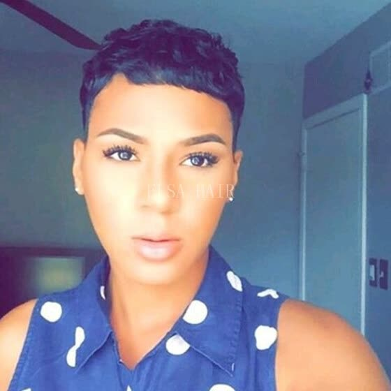 Shop Short Pixie Cut Wigs For Black Women Chic Black Human Short