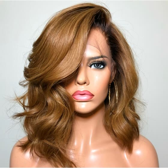Shop Light Brown Human Hair Lace Front Wig 150 Density