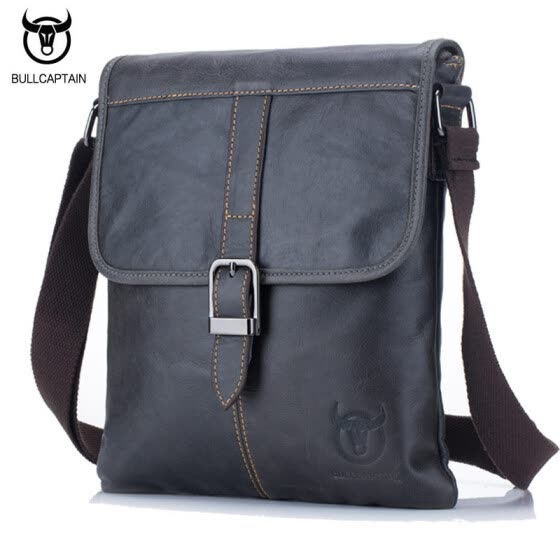 791da62552d2 BULL CAPTAIN Men Bag Genuine Leather Man New Crossbody Shoulder Bag Men  Small Business Bags Male