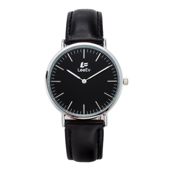 89334fb0ae6c LeeEv Fashion Leather Band caja de acero inoxidable reloj casual para mujer