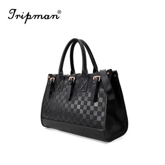 8dbbf036737 Tripman Bolsas Femininas new plaid leather handbag wholesale office elegant  women shoulder bag hot sale leisure
