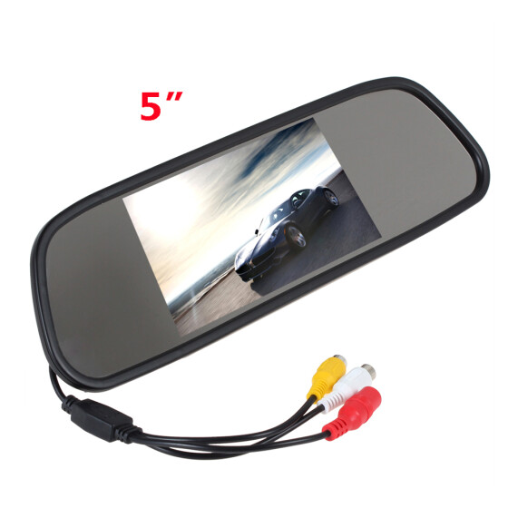 "Mini Car Reverse Parking Camera With 4.3/"" TFT LCD Rear View Mirror Monitor Kit"