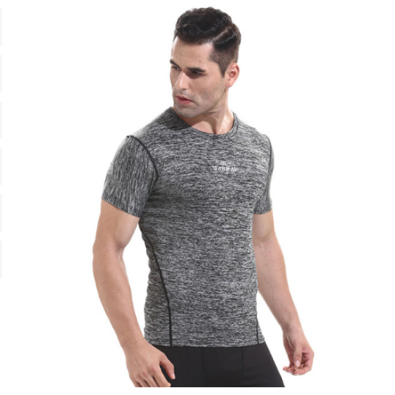 New Arrival Gyms Training T-Shirt Workout Fitness Slim High Quality Shirts Men Quick Dry Flexible Exercise T-shirts