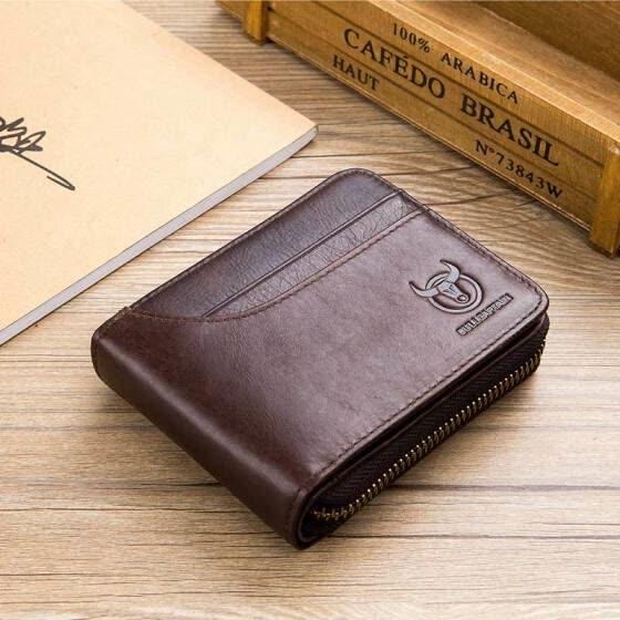c8170d420bdb Shop BULLCAPTAIN 2018 New Arrival Mens Wallet Cowhide Coin Purse ...