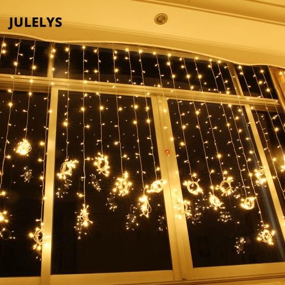 Shop JULELYS 6M x 2M 384 Bulbs Fairy Lights LED Curtain For