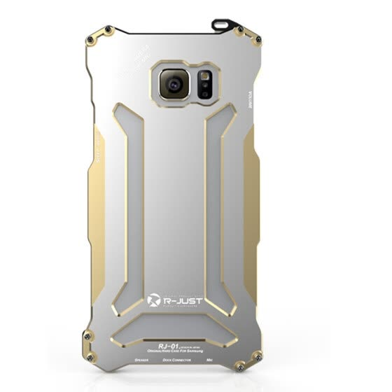 R-Just Aluminum Metal Shockproof Frame Armor Case Cover for Samsung Galaxy Note 5 Fashion Accessories