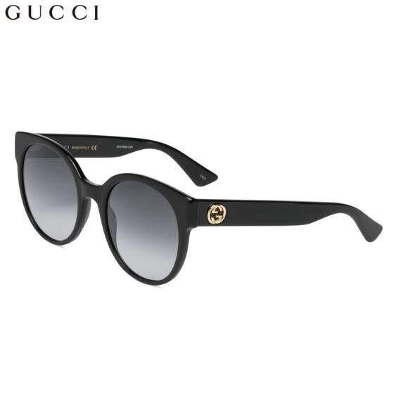 40f53fde9af GUCCI Gucci eyewear sunglasses women s fashion round frame sunglasses  GG0035S-001 black frame gradient gray