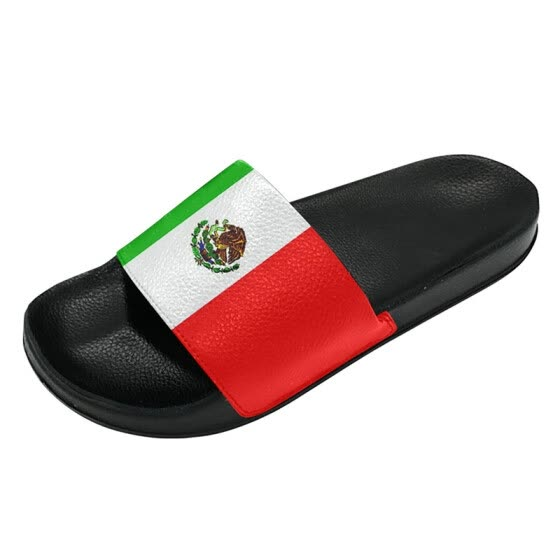 2cf7940ae918 Fashion Casual 2018 World Cup Slippers Mexican Men and Women Sports Slippers  Custom Shoes
