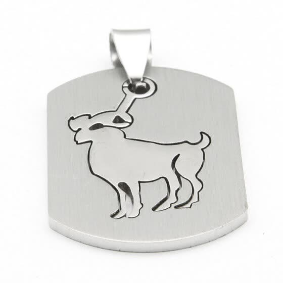 Hpolw Men's Stainless Steel Dog Tag Pendant Necklace charm jewelry pendants