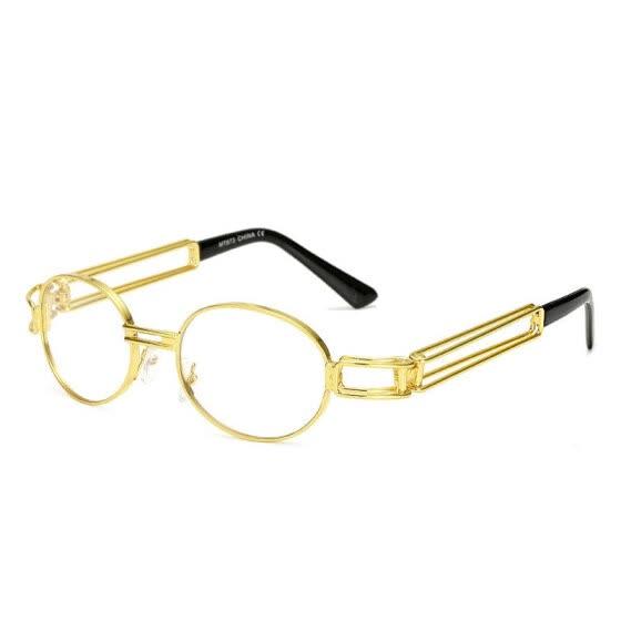 e3c86be4af Retro Small Round Sunglasses Men Male Vintage Steampunk Sunglass Women Hip  Hop Gold Glasses Luxury Brand