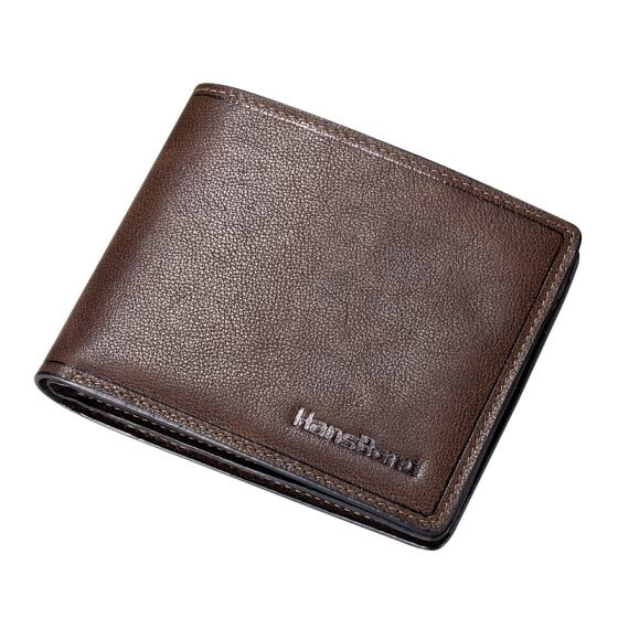 HansBand® 2016 Hot Selling Men Cowhide Genuine Leather Wallets Top Quality Purse Casual Fashion Vintage Credit Card Wallet