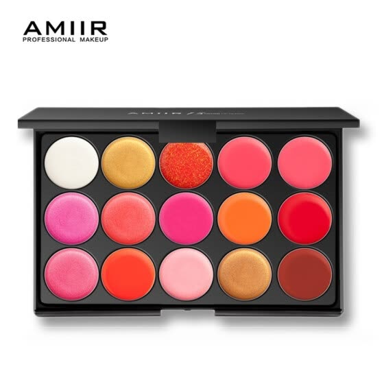 AMIIR Lipstick Palette Makeup 15 colors Lips Pigment Moisturizer Lasting Beauty Cosmetic Velvet Matte Lip Gross