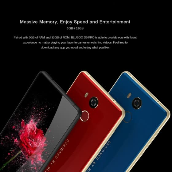 BLUBOO D5 Pro 3GB 32GB Fingerprint Identification 5.5 inch Android 7.0 MTK6737 Quad Core up to 1.3GHz Network 4G Dual SIM