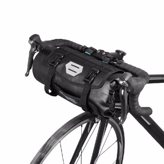 ROSWHEEL Bicycle Bag Waterproof Cycling Mountain Road MTB Bike Front Frame Handlebar Pannier Dry Bag with Roll Top Closure 3L-7L