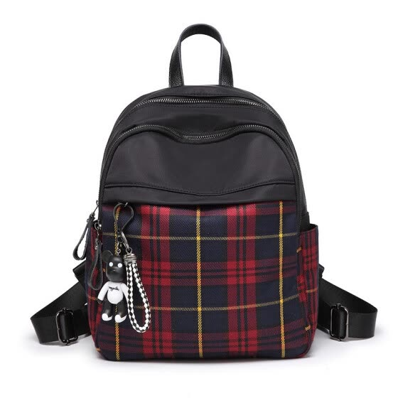 CAROLING ANGEL Vintage Women Plaid Backpack Nylon School Backpacks for Teenage Girls Casual Large Capacity  Shoulder Bags