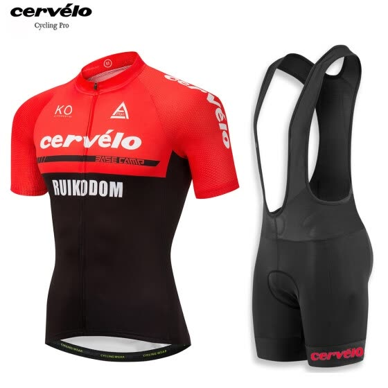 a77d49692 UCI 2018 pro team Cervelo men s summer short sleeve cycling jersey bib  shorts kit breathable Bicycle