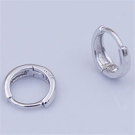ff1867f94 High Quality Silver Color Small Hoop Earrings For Women Vintage Fashion  Jewelry White Gold Plated WHEB159