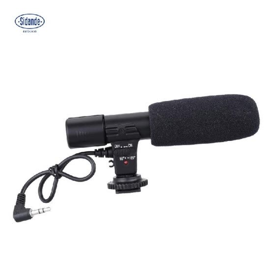 Sidande Mic-01 Digital Video DV Camera Studio Stereo Camcorder 3.5mm Recording Microphone for Canon Nikon Pentax Olympus Panasonic