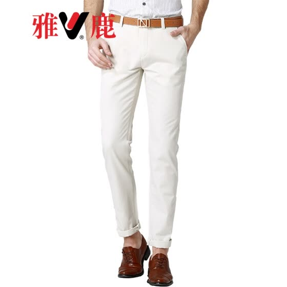 ff450b05cb6 Yalu casual pants men s business casual solid color wild trousers men s  youth Slim comfortable straight casual