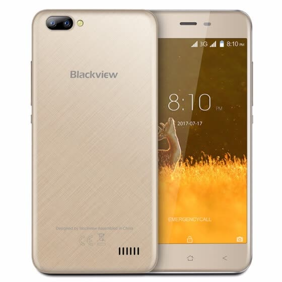 BLACKVIEW A7 Android 7.0 smartphone Dual Rear Camera Quad core 5.0'' Cell phone Unlocked 1GB+8GB GPS WIFI 3G Dual Sim mobile phon