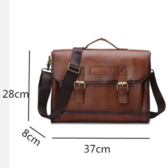 New Men/'s Leather Messenger Bags Briefcase Shoulder Bag Cross-body Tote Handbag
