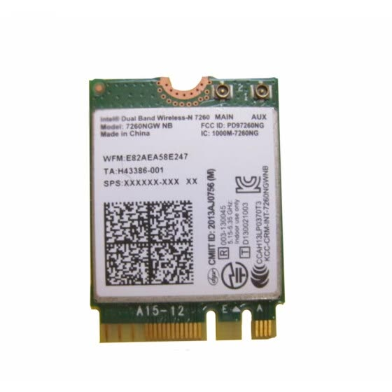 Shop Wireless Adapter Card for intel 2 4G/5G Dual Band N 7260