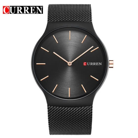 CURREN 2017 new black rose gold Pointer Men's Watch Luxury Brand Analog Sports Wrist Watch Quartz Men's Business Watch 8256