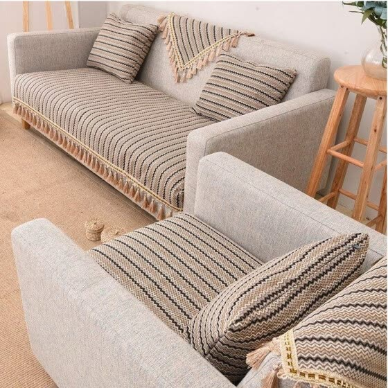 Shop Garden Fabric Japanese Style Hand Woven Cotton Sofa ...