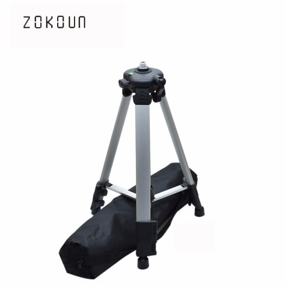 "1.2m Adjustable Height thicken aluminum 5/8"" male threads laser level tripod with water bubble for 360 rotary laser"