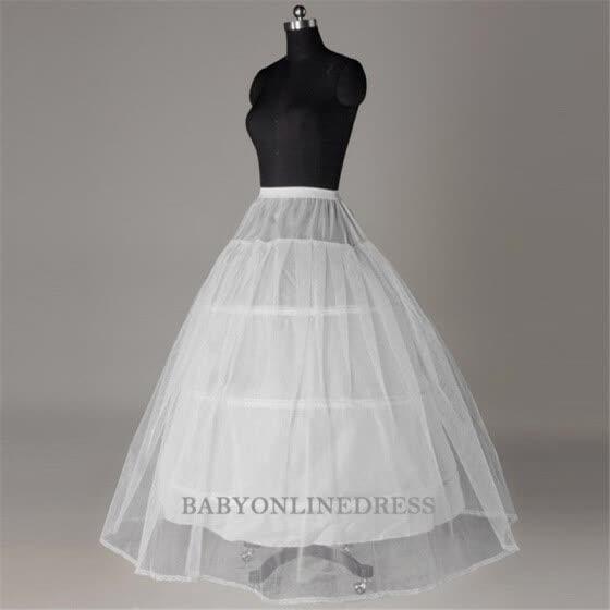 3fe0db52c52 Горячая распродажа Дешевые Цена Белый 3 Hoop Petticoat для свадебного платья  для новобрачных Underskirt Crinoline Wedding